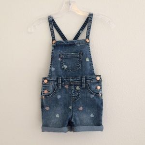 Cat & Jack Super Stretch Heart Denim Overalls